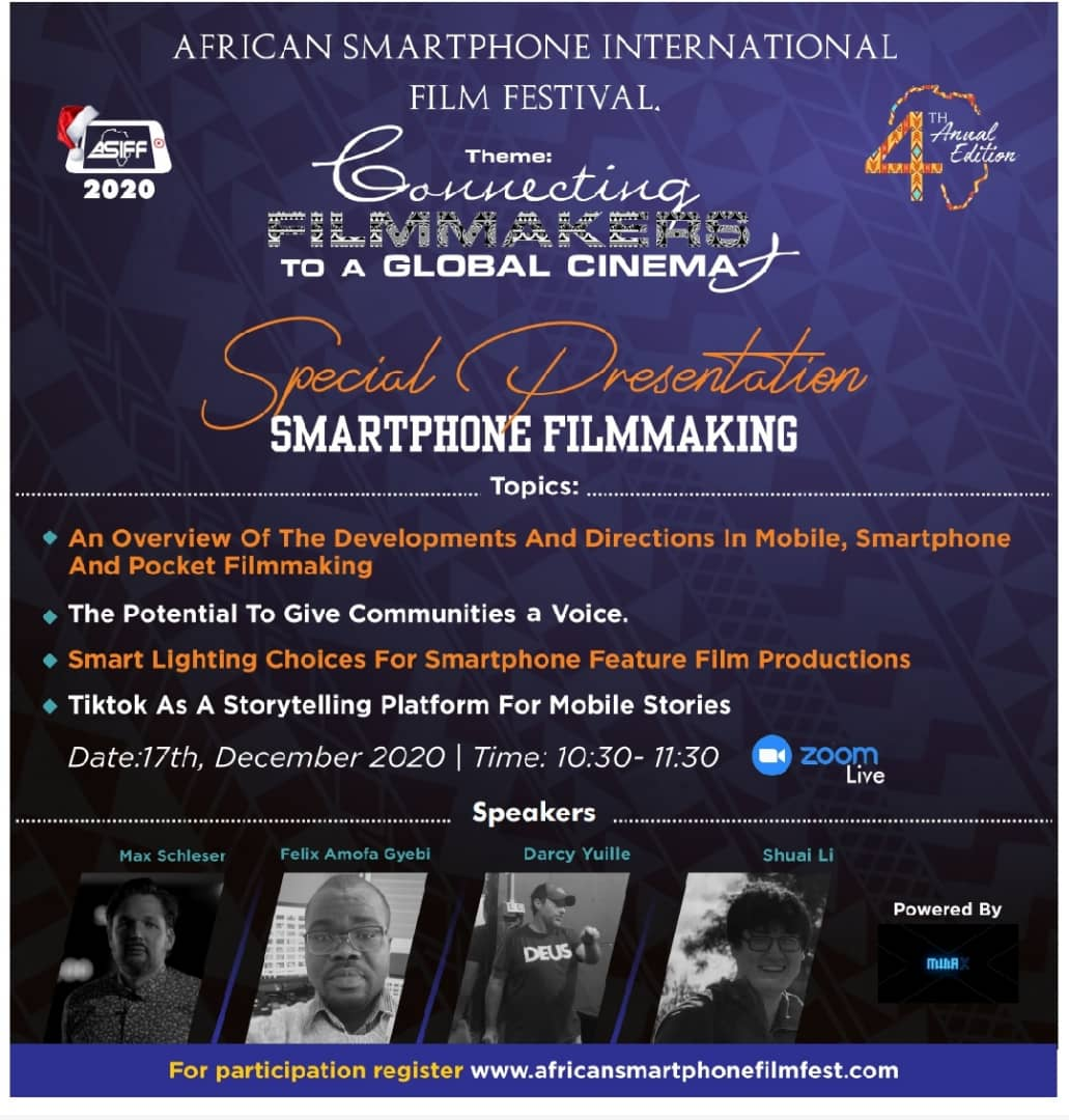 Smartphone filmmaking presentation - African Smartphone International Film Festival